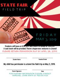 Field Trip Permission Slip Flyer (US Letter) template
