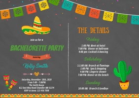 Fiesta Bachelorette itinerary invitation