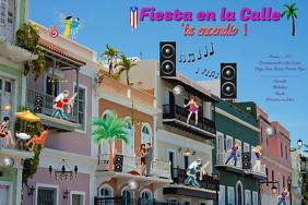 Fiesta en la Calle/ Street Party/Spring Break/Summer Party/ Hispanic festival