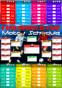 FIFA World Cup Match Schedule A2 template