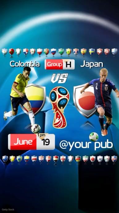 FIFA World Cup Video Pantalla Digital (9:16) template