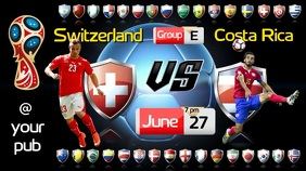 FIFA World Cup Video Digitale display (16:9) template