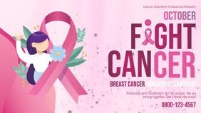 Fight Breast Cancer Banner Vidéo de couverture Facebook (16:9) template