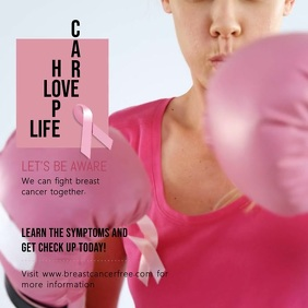 Fight Breast Cancer Square Video Template