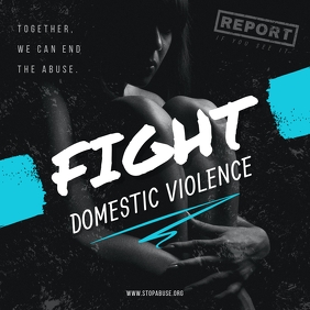Fight Domestic Violence Instagram Image template