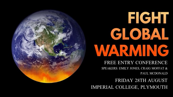 Fight Global Warming Video Template Digitalanzeige (16:9)
