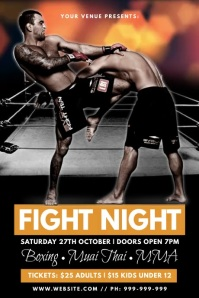 Fight Night Poster template
