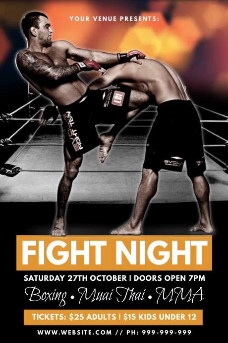 Fight Night Poster Cartaz template