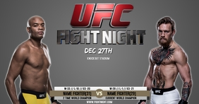 FIGHT NIGHT POSTER VIDEO FLYER TEMPLATE Facebook Shared Image