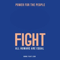 Fight Poster Template Publicación de Instagram