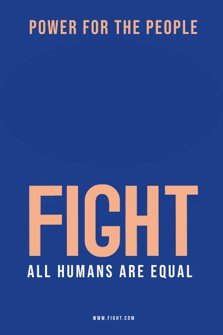 Fight Poster Template Plakkaat