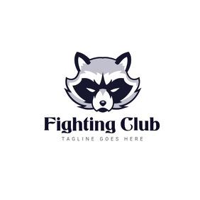 fighting club logo template