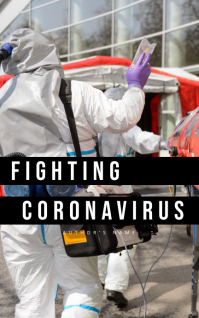 Fighting Coronavirus Strona tytułowa do czytnika Kindle template