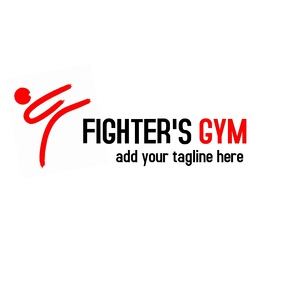 fighting man icon gym logo