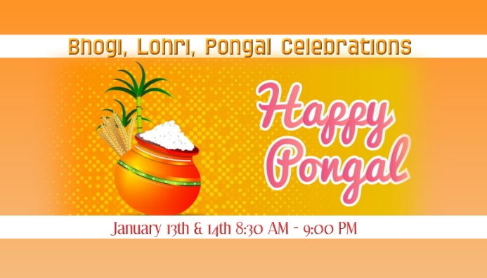 happy pongal Business Card template