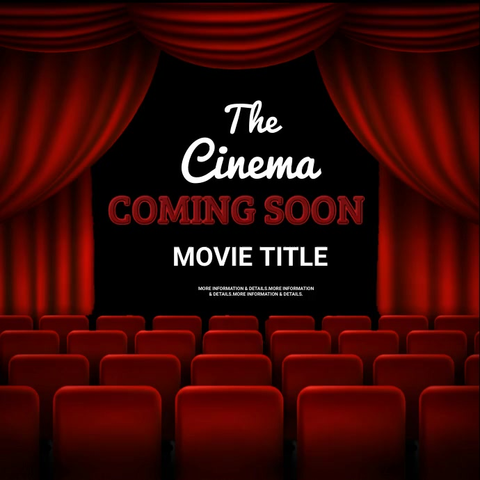 Film and theater, event,coming soon Pos Instagram template