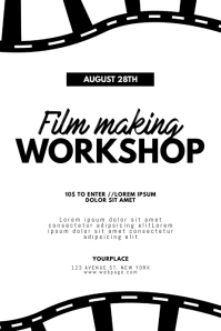 Film Movie Making Workshop Flyer Template