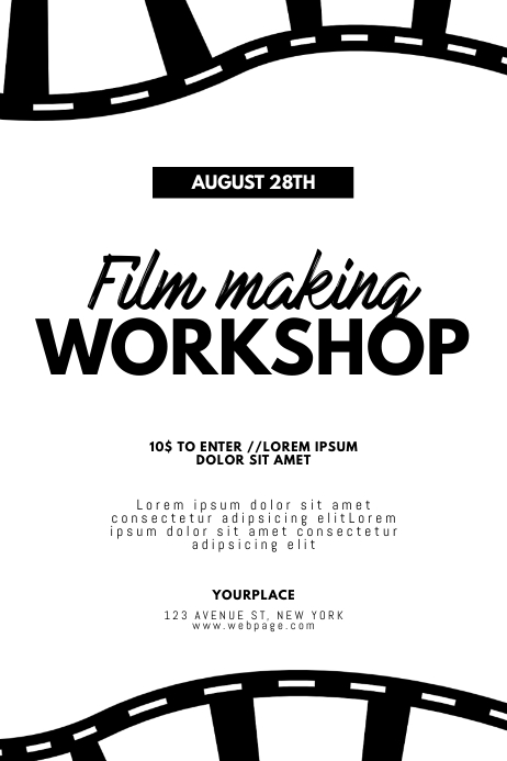 Film Movie Making Workshop Flyer Template