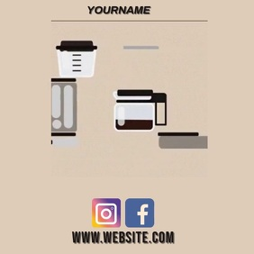 FILTER COFFEE AD SOCIAL MEDIA TEMPLATE Instagram na Post