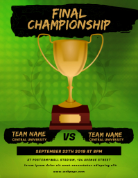 Final Championship flyer template