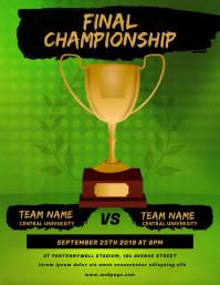 Final Championship flyer template