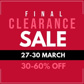 Final Clearance Sale Instagram Ad template