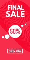 Final Discount Sale % Roll up Banner Design