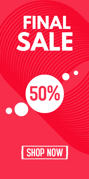 Final Discount Sale % Roll up Banner Design template