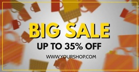 Final Sale Big sell out advert promo now shopping bags
