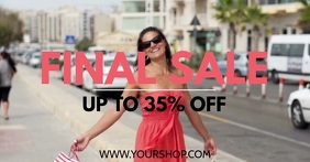 Final Sale Big sell-out advert promo now shopping woman bags Facebook-Anzeige template