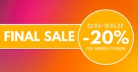 Final Sale Cover Header Sales Promotion Gambar Bersama Facebook template