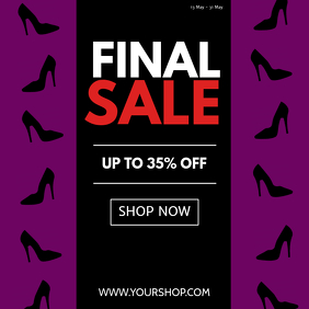 Final Sale Fashion store shoes sell-out advert promo retail
