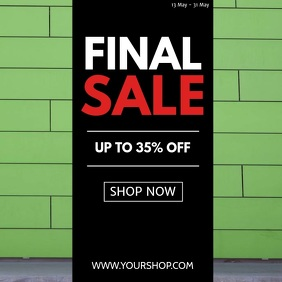 Final Sale funny rolling shopping cart sell-out advert promo