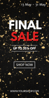 Final Sale Roll up Banner Discount price off