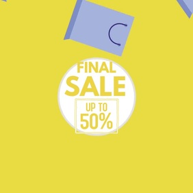 Final Sale Video Shopping Bags Flying Advert
