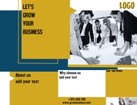 Finance and invest bronchure flyer design lay Volante (Carta US) template
