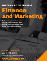 Finance and marketing online conference templ