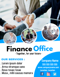 Finance and tax office flyer
