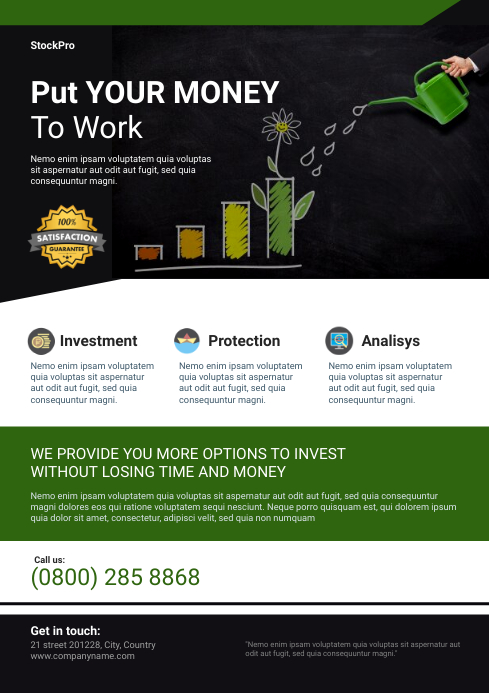 Finance Flyer Template A4