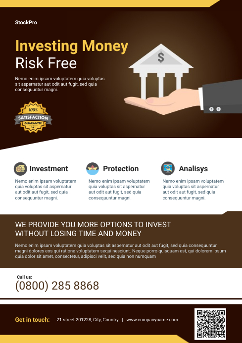 Finance Flyer Template A4