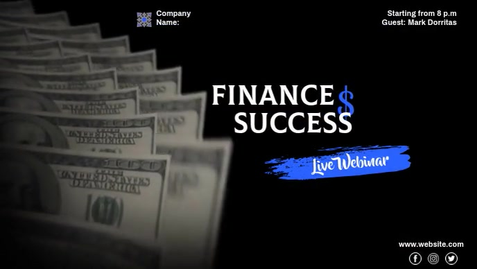 FINANCE LIVE WEBINAR Facebook-covervideo (16:9) template