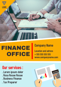 Finance office a4 flyer advertisement