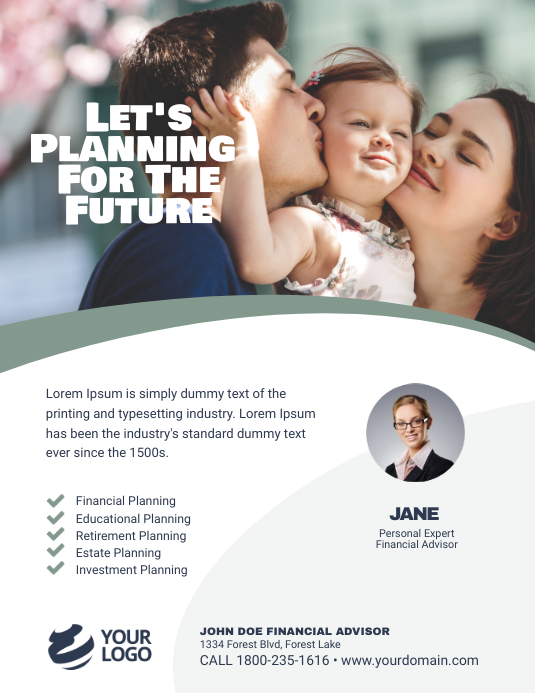 Financial Advisor Flyer Poster Template
