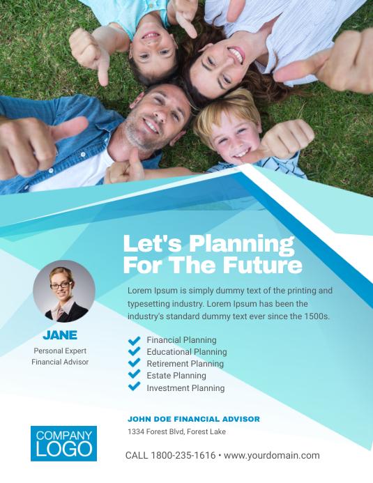 Financial Advisor Flyer Poster Template
