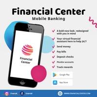 Financial and Banking Online App Ad Publicación de Instagram template