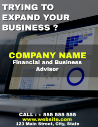 financial and business advisors flyer templat