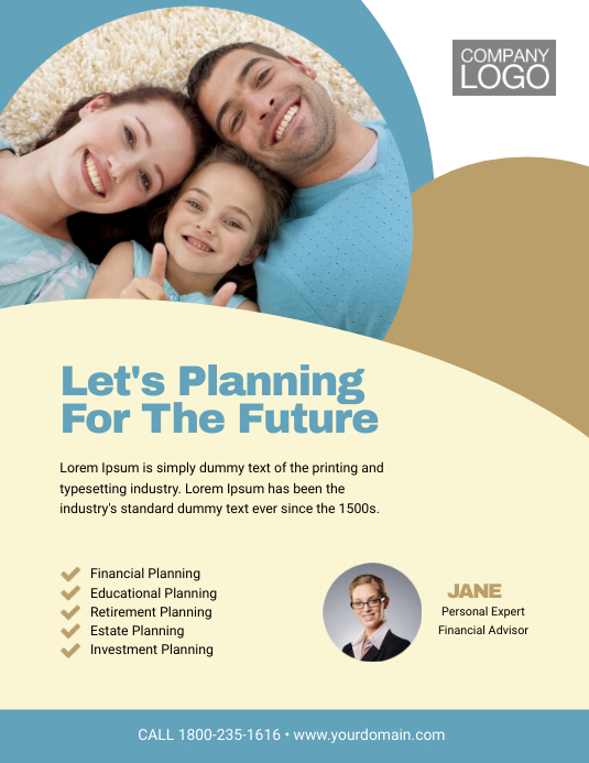 Financial consultant flyer