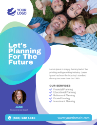 Financial Consultation Services Flyer Poster