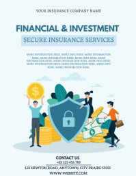 FINANCIAL INVESTMENT INSURANCE Template Flyer (US Letter)