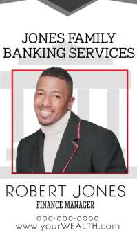 Banking services finance manager business card template